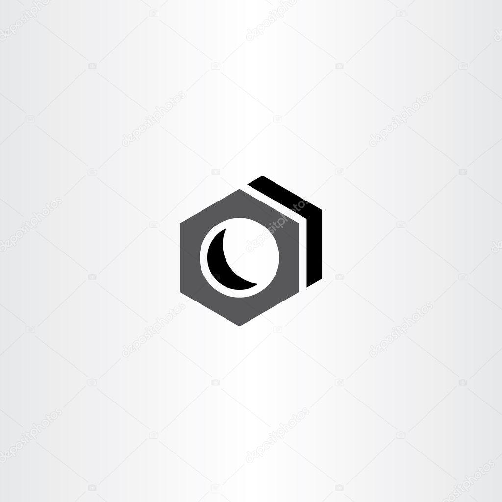 Schraube Mutter Vektor Icon Logo Zeichen — Stockvektor © blaskorizov ...