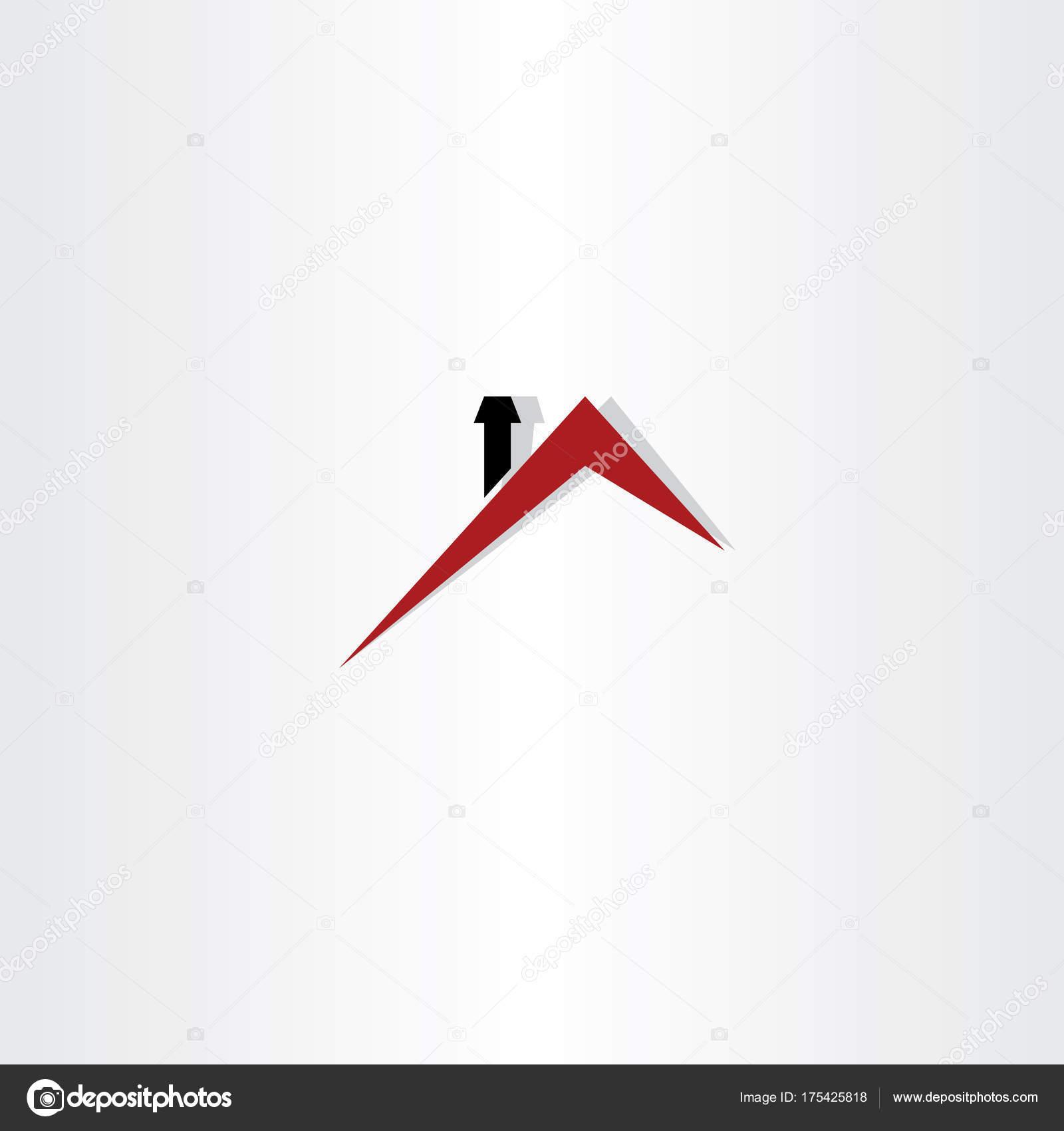 toit de maison dessin Création de symbole de toit maison logo u2014 Vecteur par ...