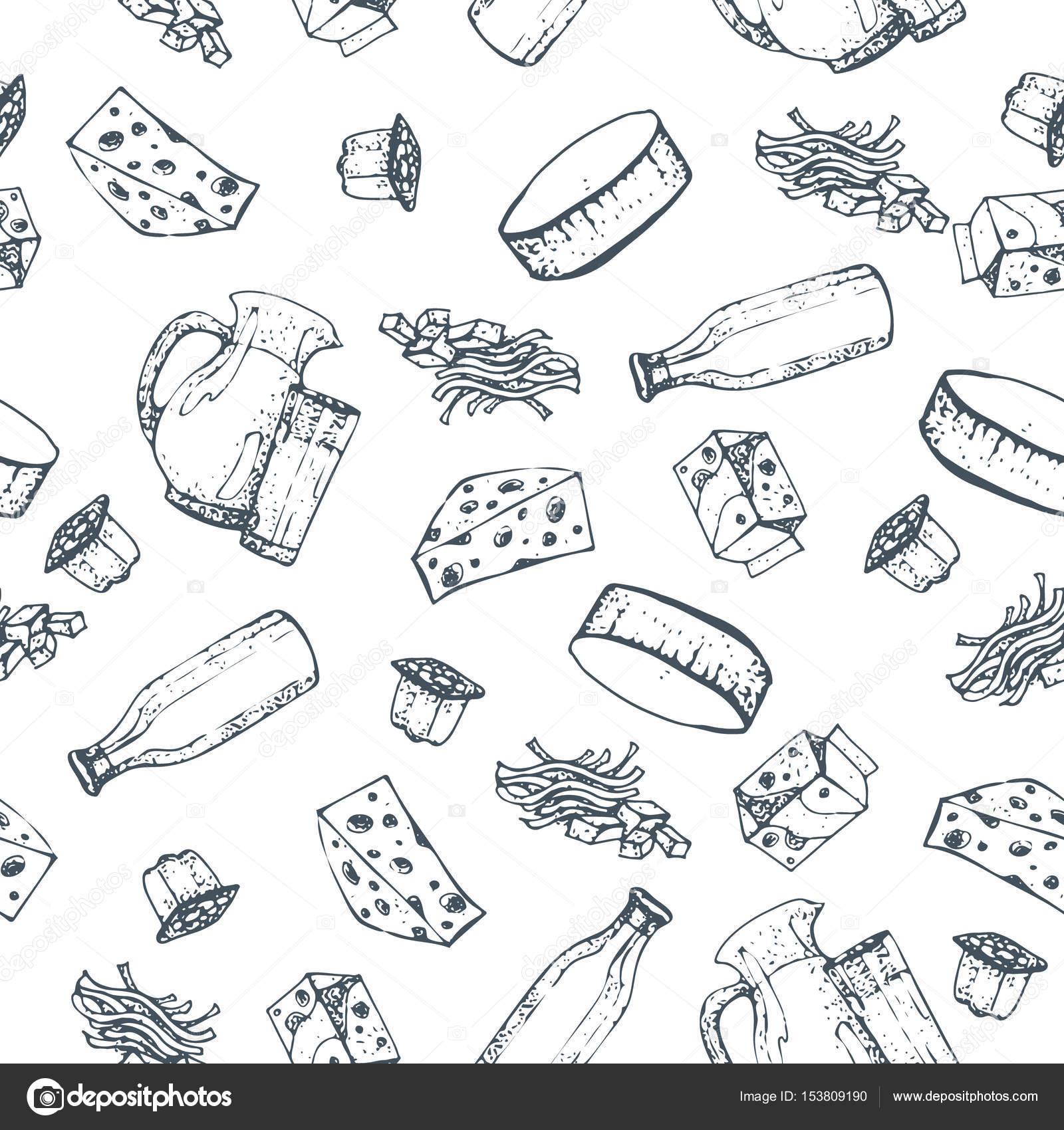 Produtos L Cteos Sem Costura Padr O M O Desenhada Desenhos De  ~ Desenhos Para Colorir Cozinha
