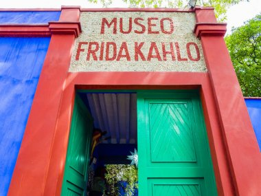 Entrance of Frida Kahlo Museum, Coyoacan borough, Mexico City