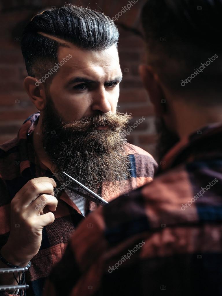 barbe de coupe homme hipster photographie 126613826. Black Bedroom Furniture Sets. Home Design Ideas