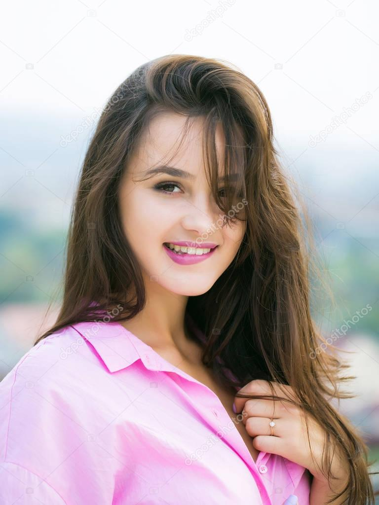 Chica Joven Bonita Sexy Sonriendo Foto De Stock