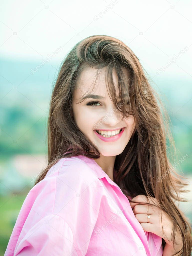Young Pretty Sexy Girl Smiling Stock Photo