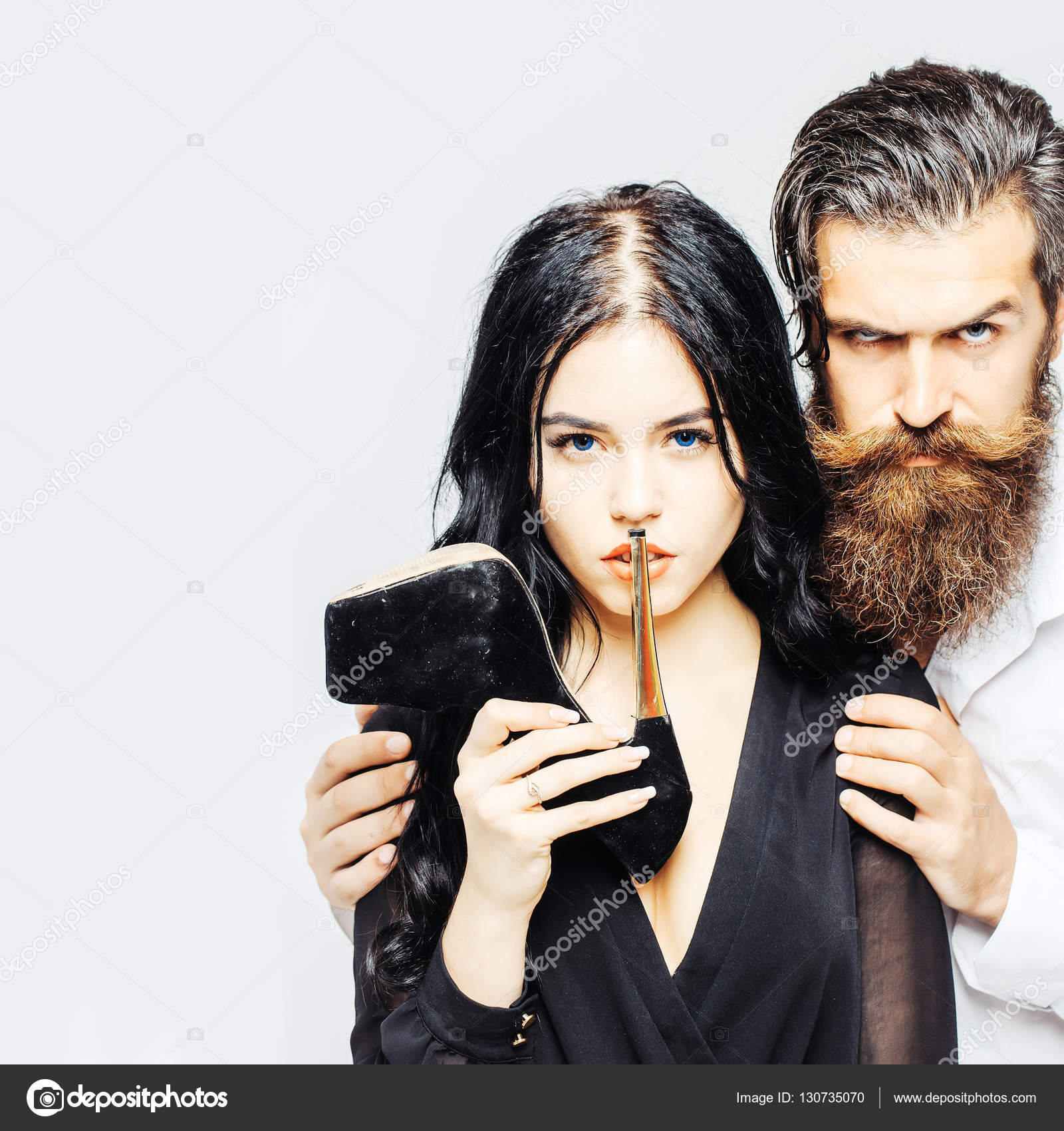 Sexy Couple With Shoe  Stock Photo  Tverdohlibcom 130735070-6150