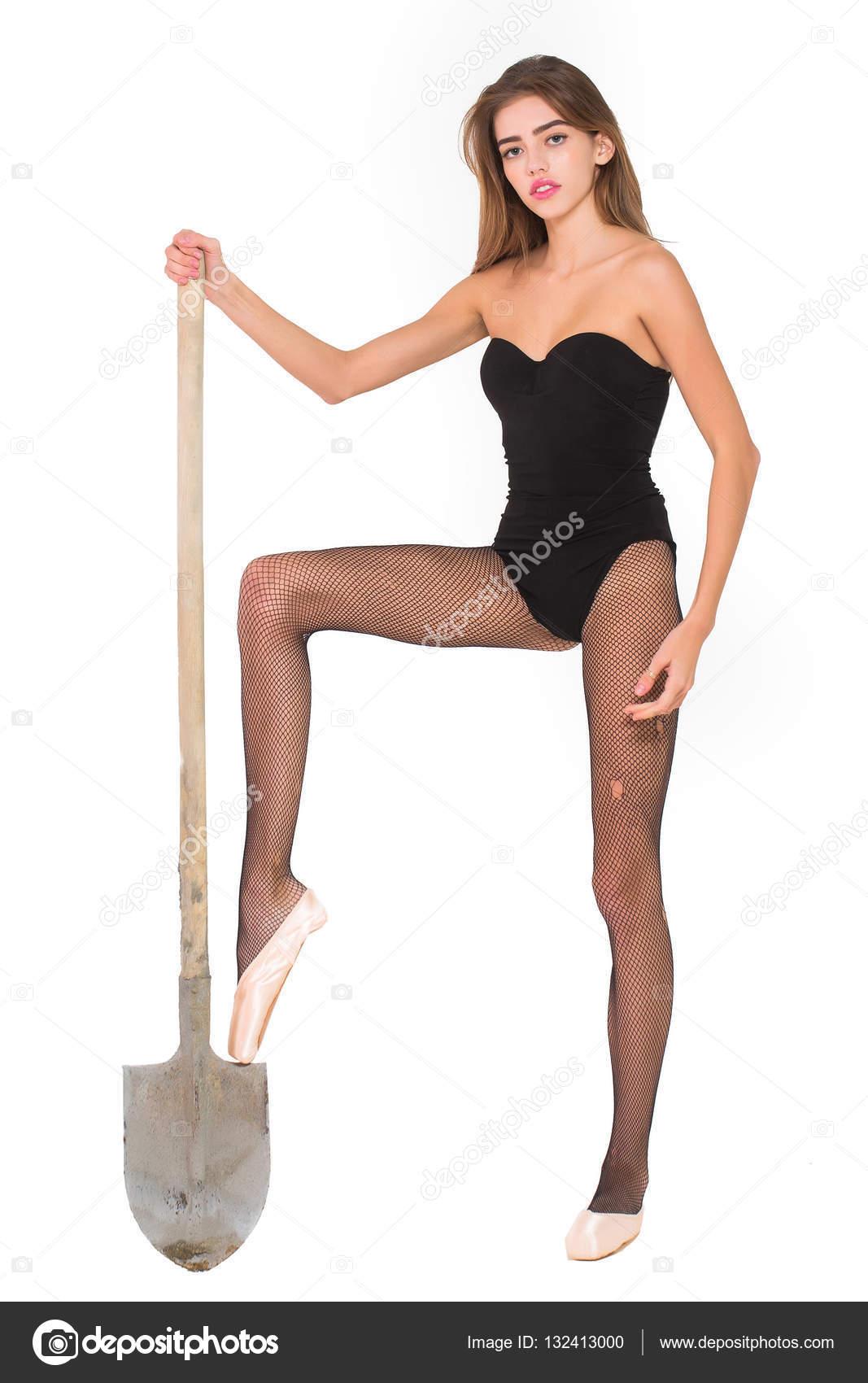 Сексуальная девушка в туфельках