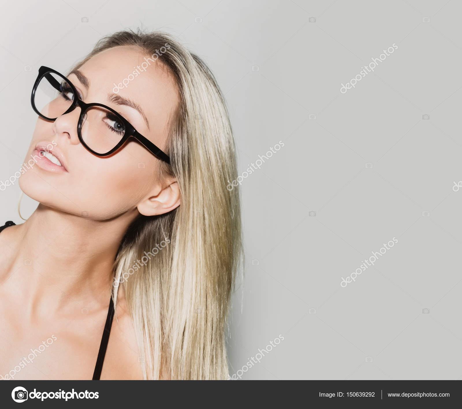 Hübsche Studentin Mädchen Oder Blond Lehrer Frau In Schwarzen