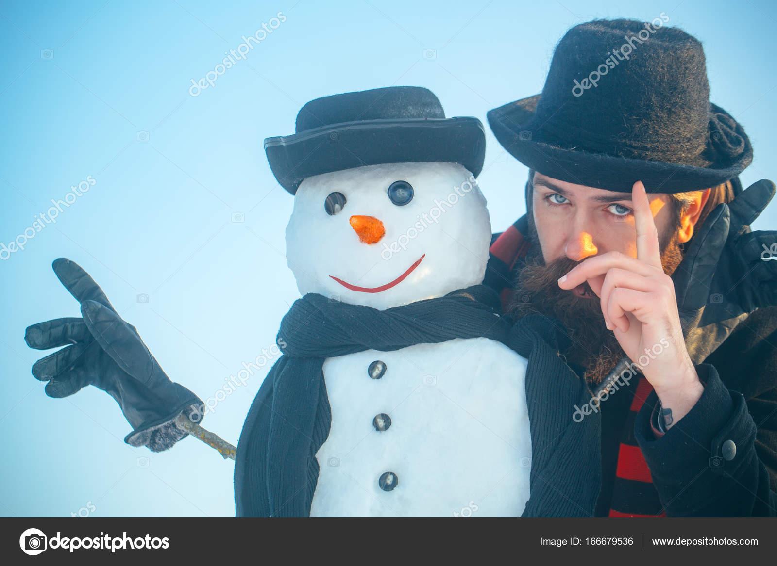 L'uomo Neve Cappelli Pupazzo Signori Sciarpe In Di E qFxttwT7p