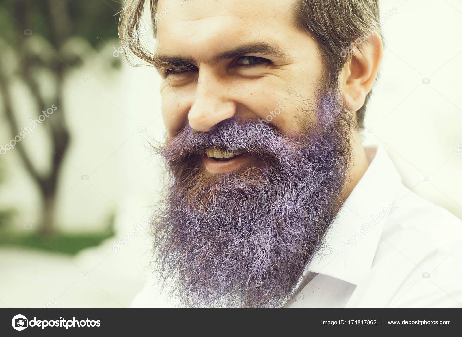 smiling guy with lilac beard stock photo tverdohlib com 174817862