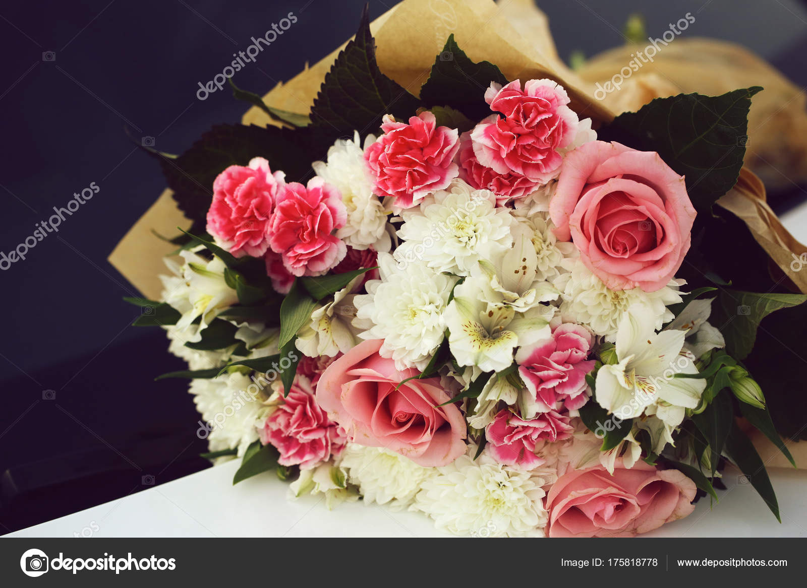 Colorful bouquet of fresh flowers stock photo tverdohlib colorful bouquet of fresh flowers stock photo izmirmasajfo