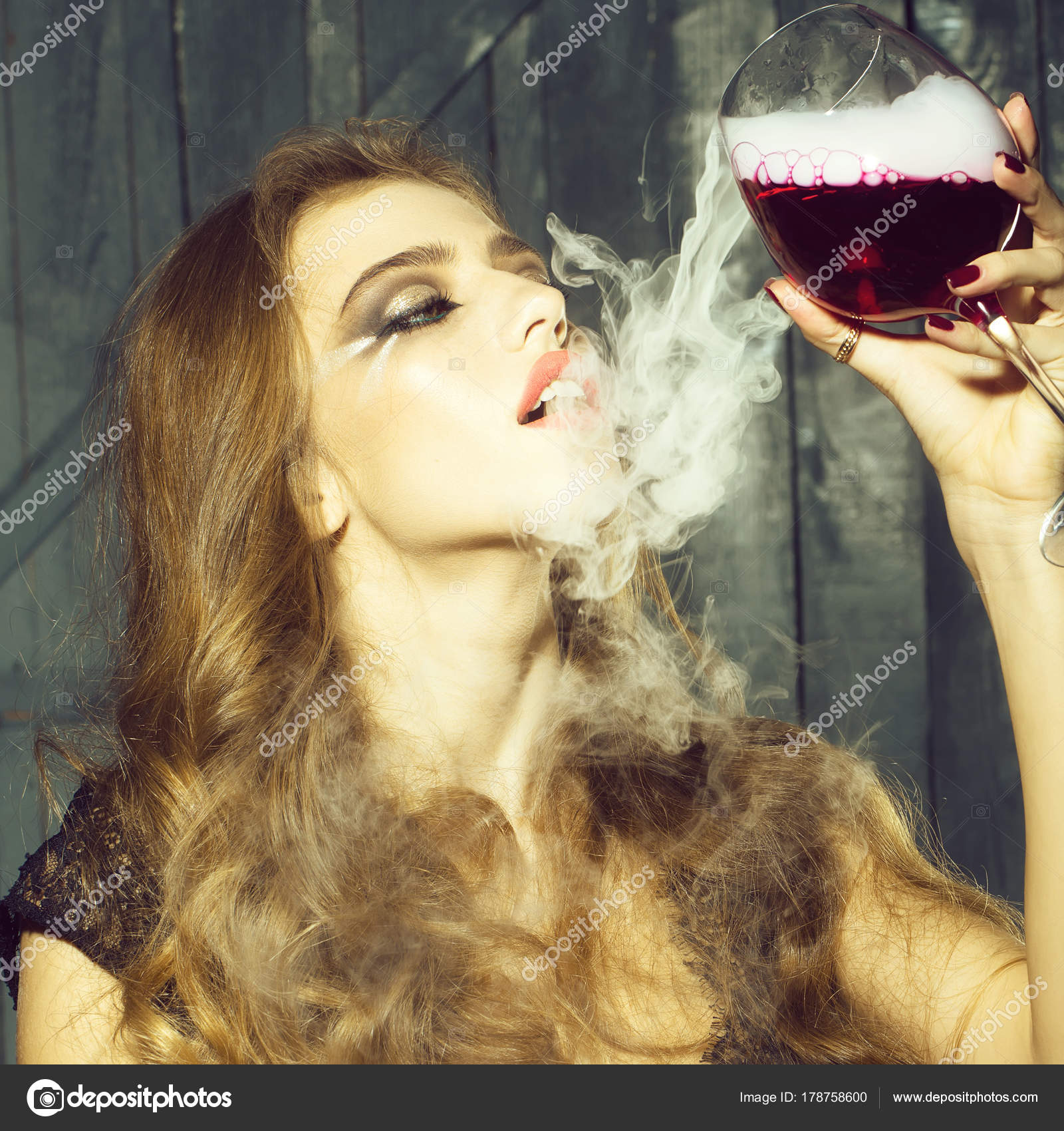 Are absolutely the girl with the wine glass