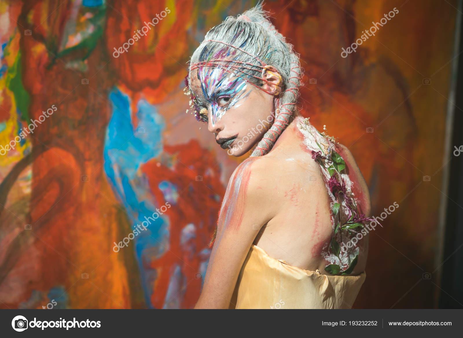 Indian Woman Art Image Indian Woman Creative Body Art