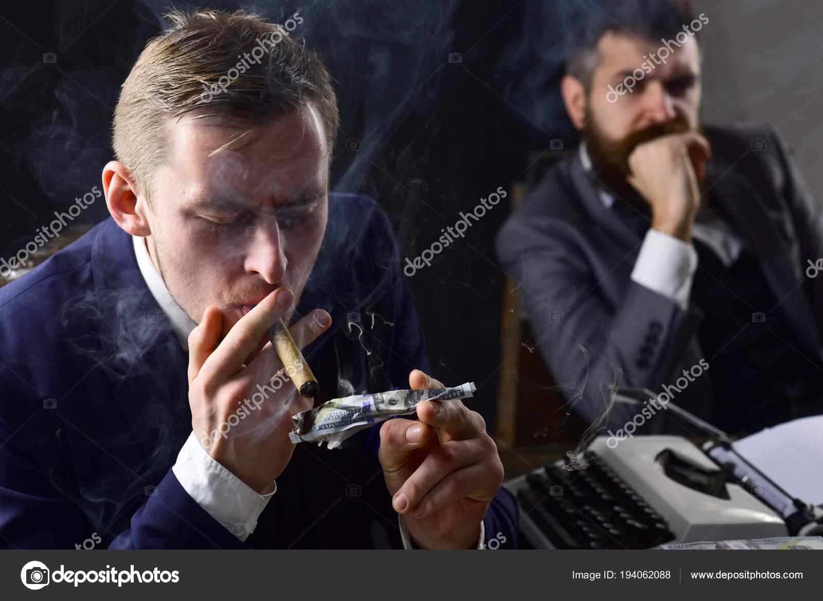 obchodní kouření kouření na obličeji