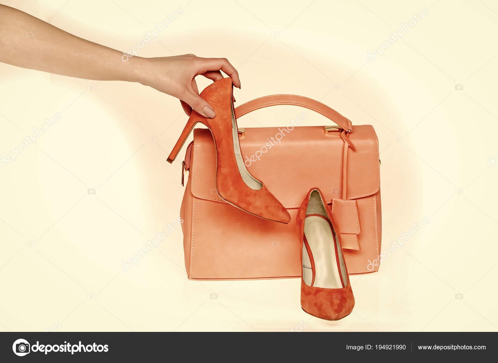 Kézzel tartani cipő táska elszigetelt fehér background — Stock Fotó ... 213f66f70a