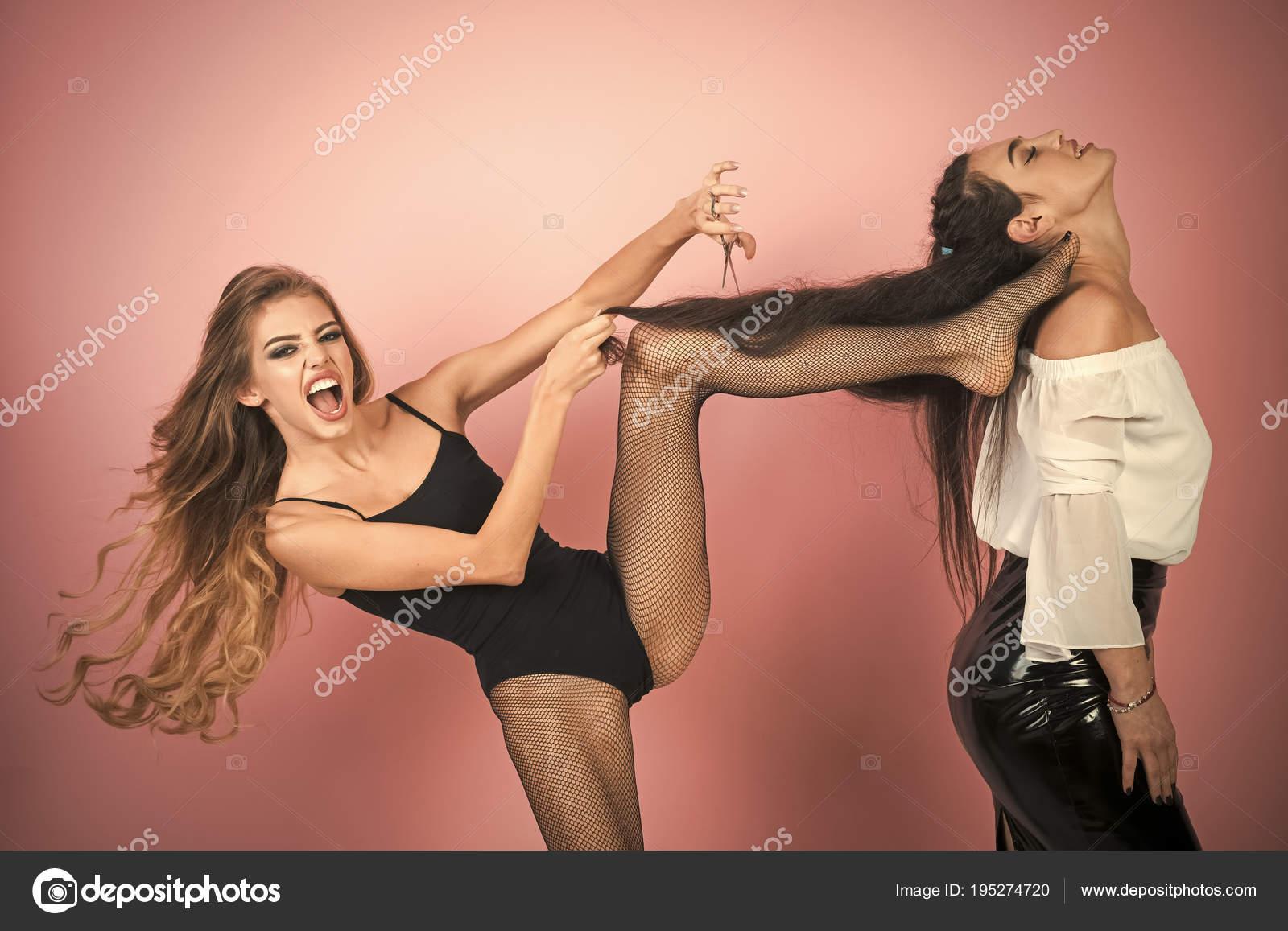 Twee lesbiennes schaar