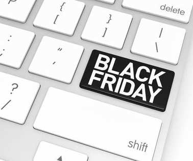 Computer Keyboard with Black Friday Button.
