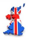 Egyesült Királyság Térkép, zászló