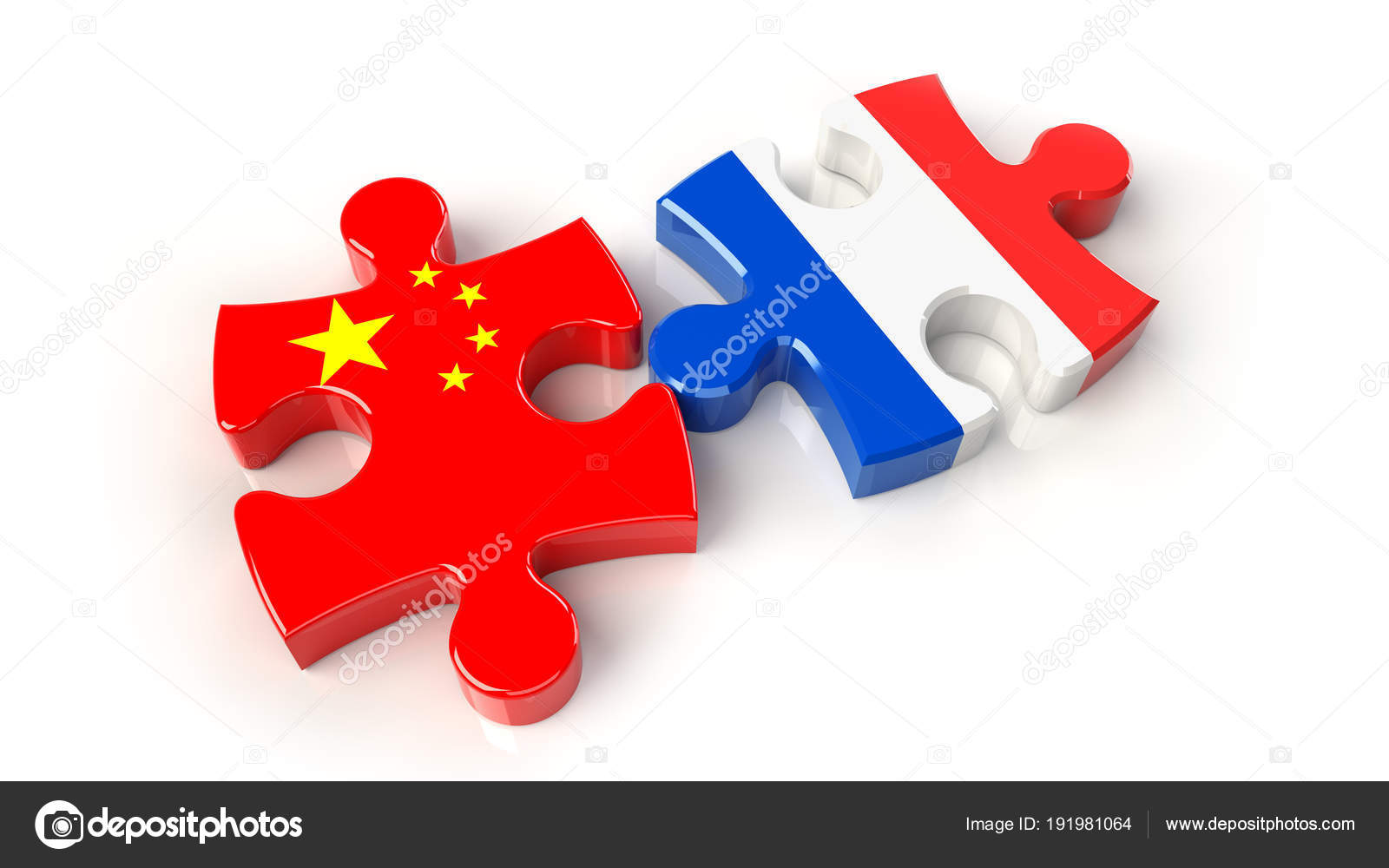 China And France Flags On Puzzle Pieces Political Relationship Concept 3D Rendering Photo By Klenger