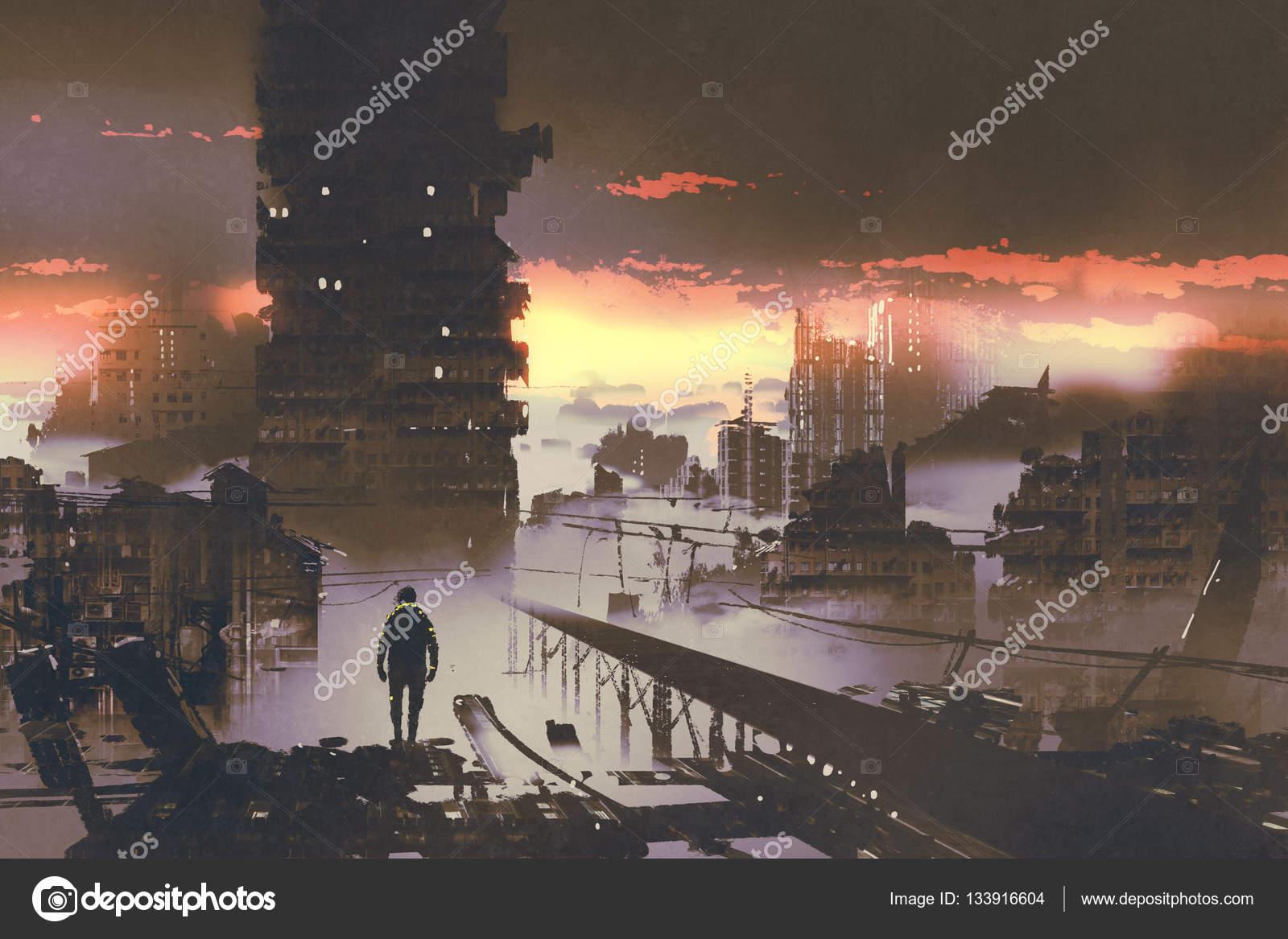 Áˆ Apocalyptic Cityscape Stock Photos Royalty Free Apocalypse City Images Download On Depositphotos