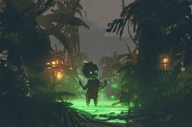 the creature made from magic swamp