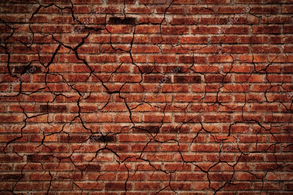 Old Crack Brick Wall Stock Photo Jpkirakun 125275024