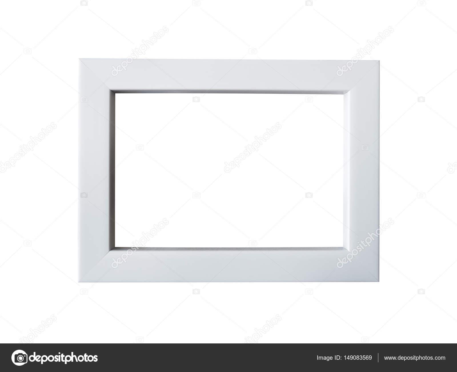 marco de madera blanco sobre fondo blanco — Fotos de Stock ...