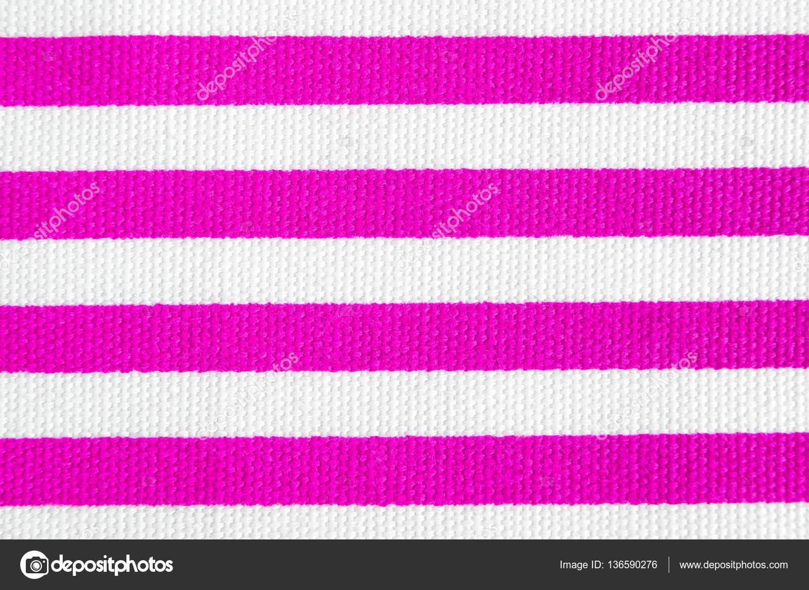 Fondo De Materia Textil Con Rayas Rosa Y Blanco. Textura