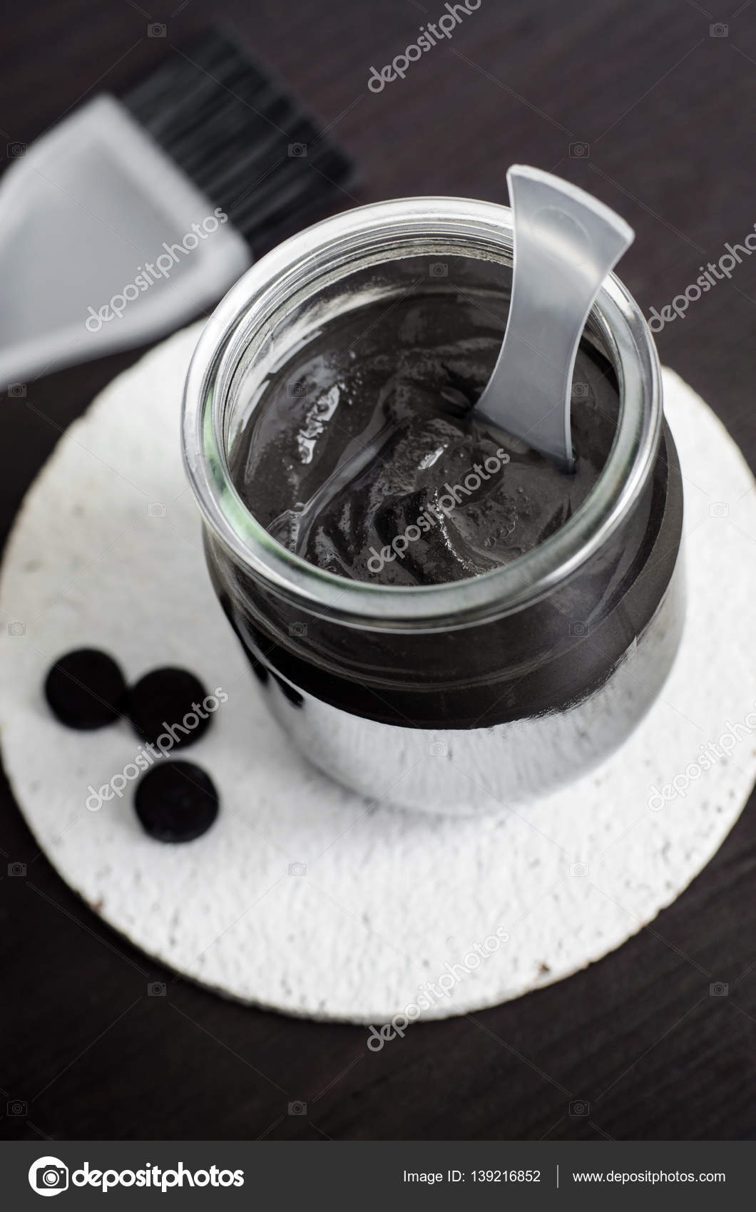 DIY charcoal face mask in a small