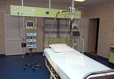 modern medical bed and a special device in the modern hospital o