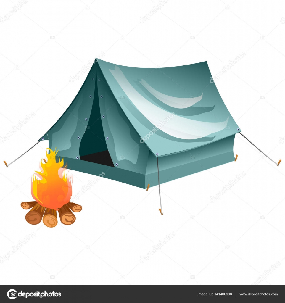 Cartoon tent and set bonfire isolated. Objects bonfire tents. Tents c&ing. Vector  sc 1 st  Depositphotos & Cartoon tent and set bonfire isolated. Objects bonfire tents ...