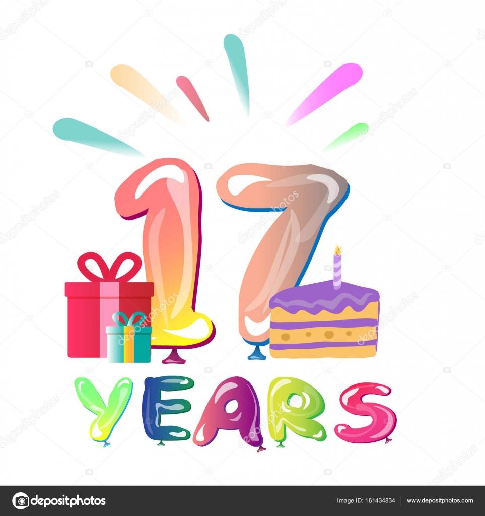 grattis 17 år Grattis på årsdagen 17 år — Stock Vektor © sasha_zerg #161434834 grattis 17 år