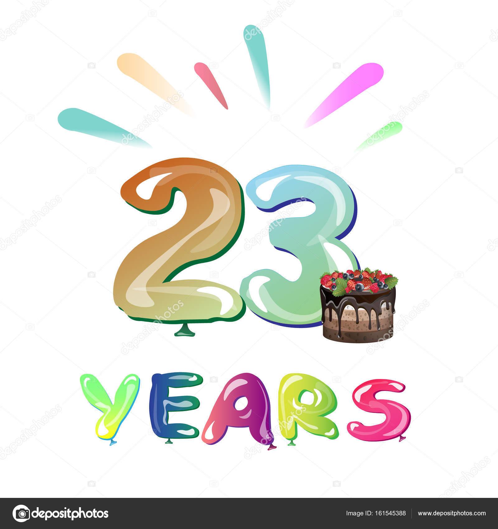 grattis på årsdagen Grattis på årsdagen 23 år — Stock Vektor © sasha_zerg #161545388 grattis på årsdagen