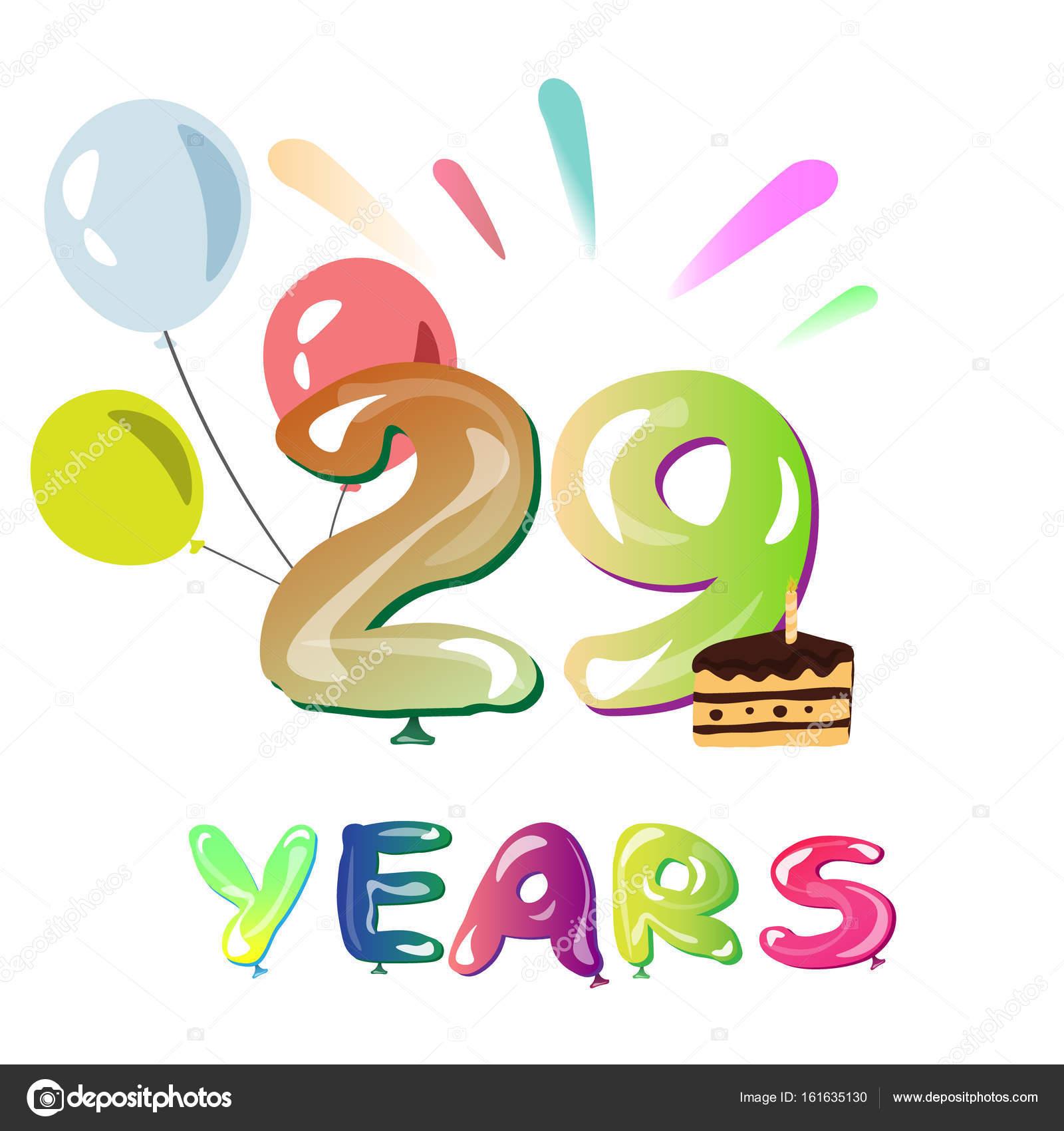 29 jaar verjaardag Gelukkige verjaardag 29 jaar — Stockvector © sasha_zerg #161635130 29 jaar verjaardag