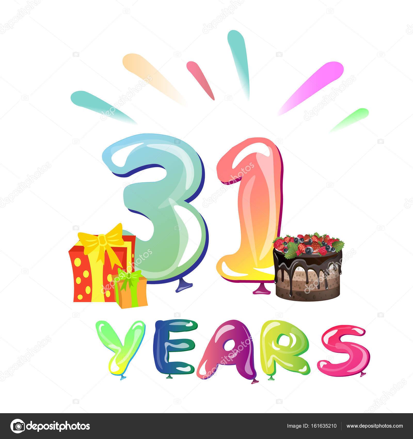 Открытки 31 год день рождения