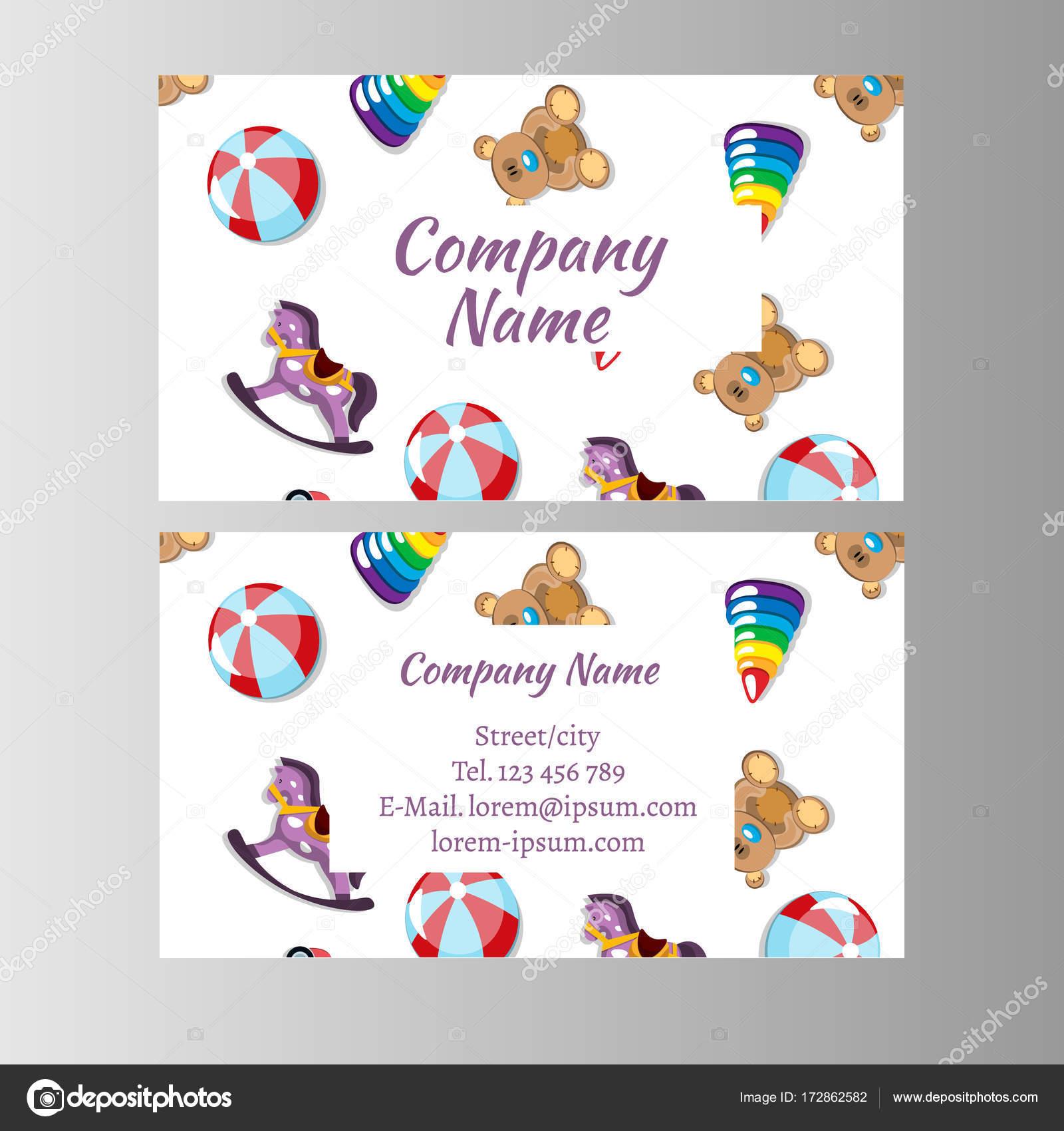 Enfants Magasin Bb Shop Modle De Carte Visite Illustration Vectorielle Vecteur Par Sasha Zerg