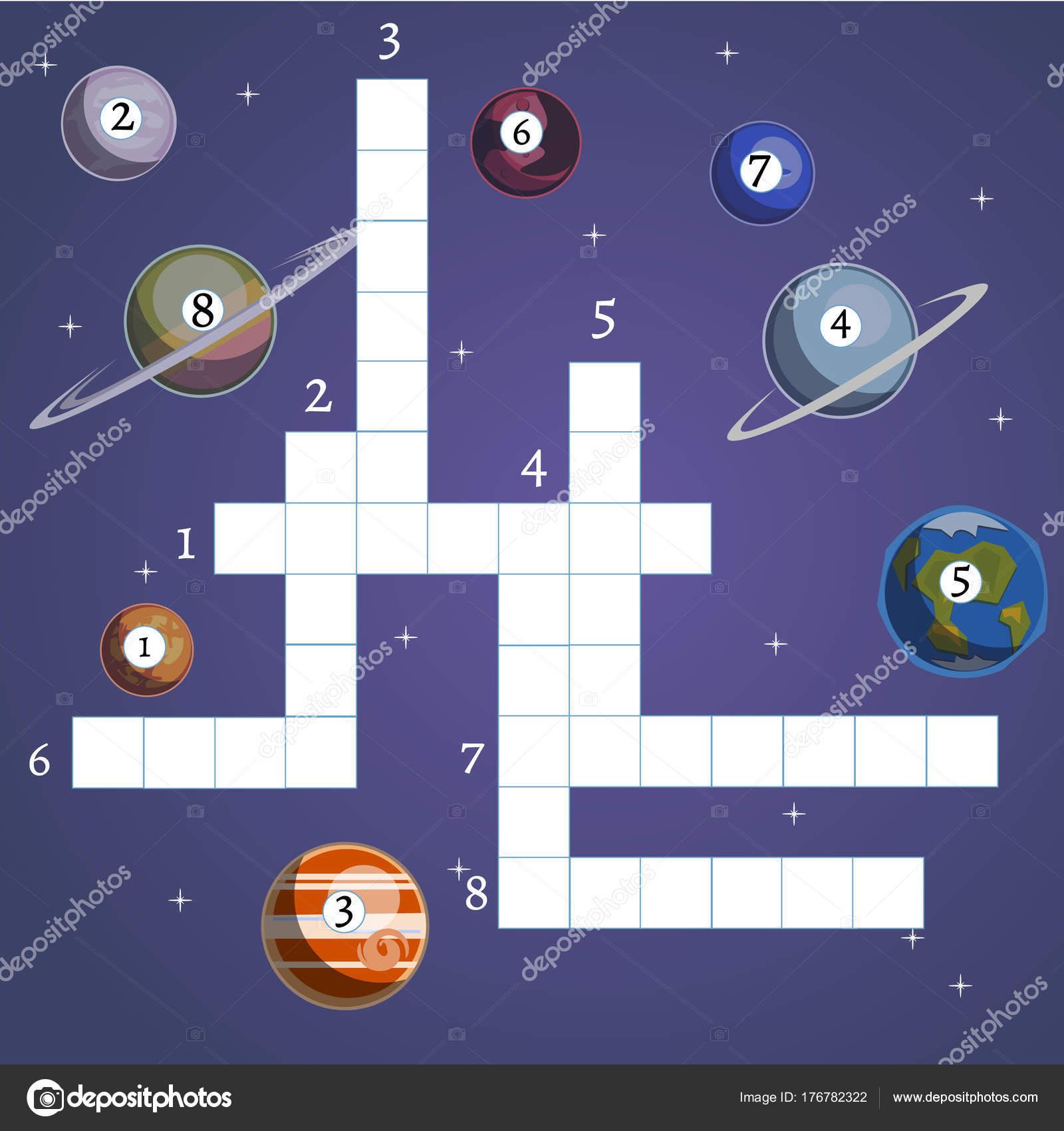 Brettspiel mit Planeten und Raumfahrt — Stockvektor © sasha_zerg ...