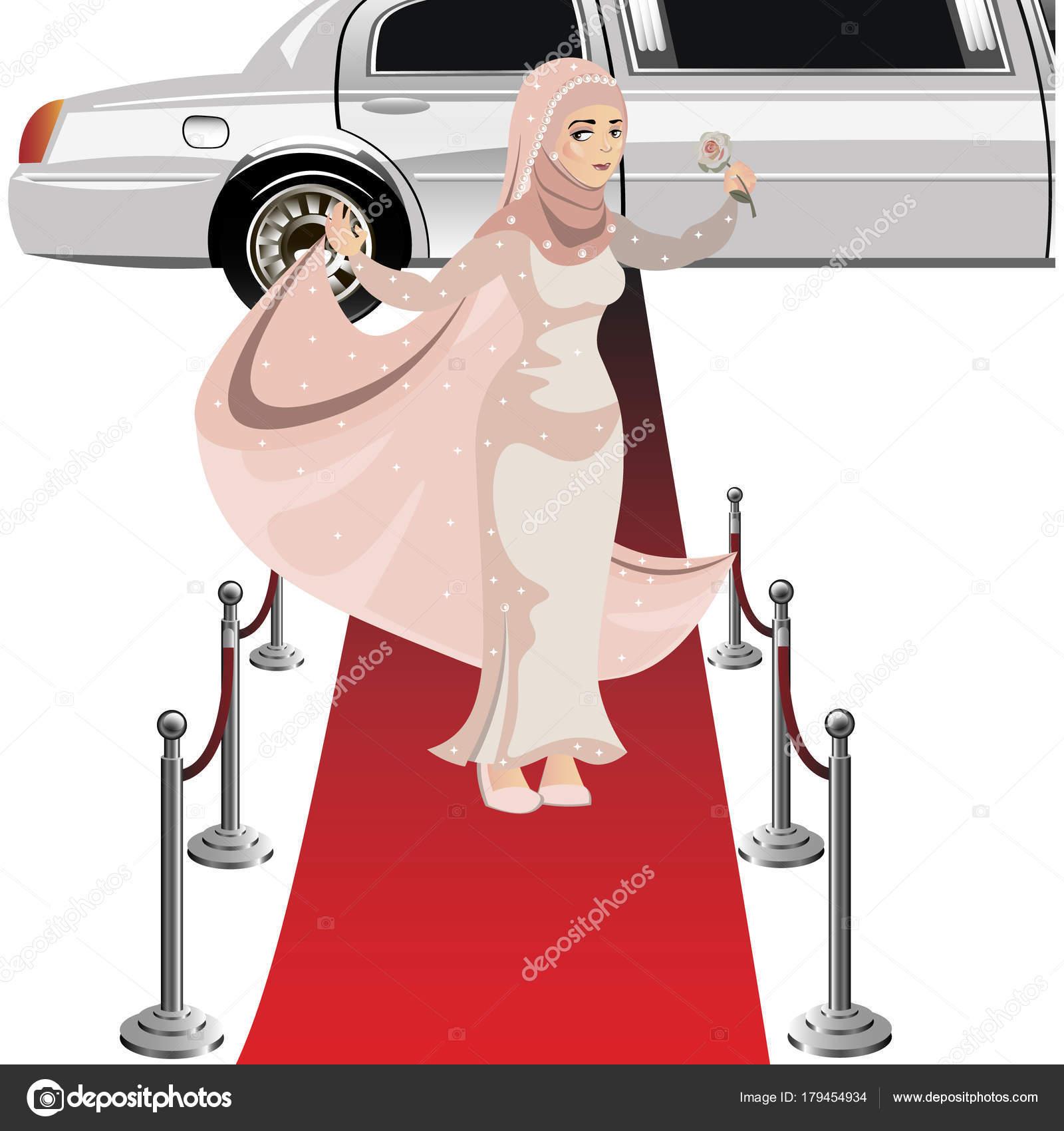 Hermosa mujer musulmana en el vestido — Archivo Imágenes Vectoriales ...