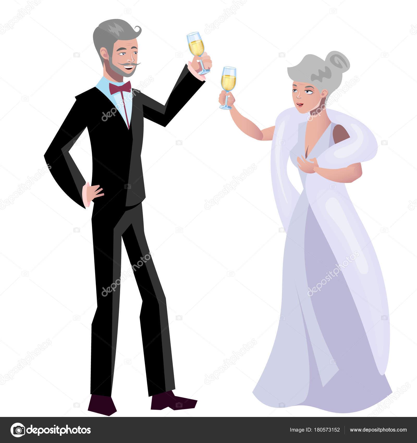 Młody człowiek randki starej kobiety