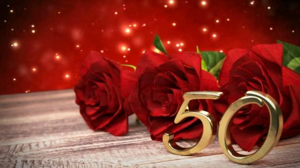 Nahtlose Schleife Birthday Hintergrund Mit Roten Rosen Auf