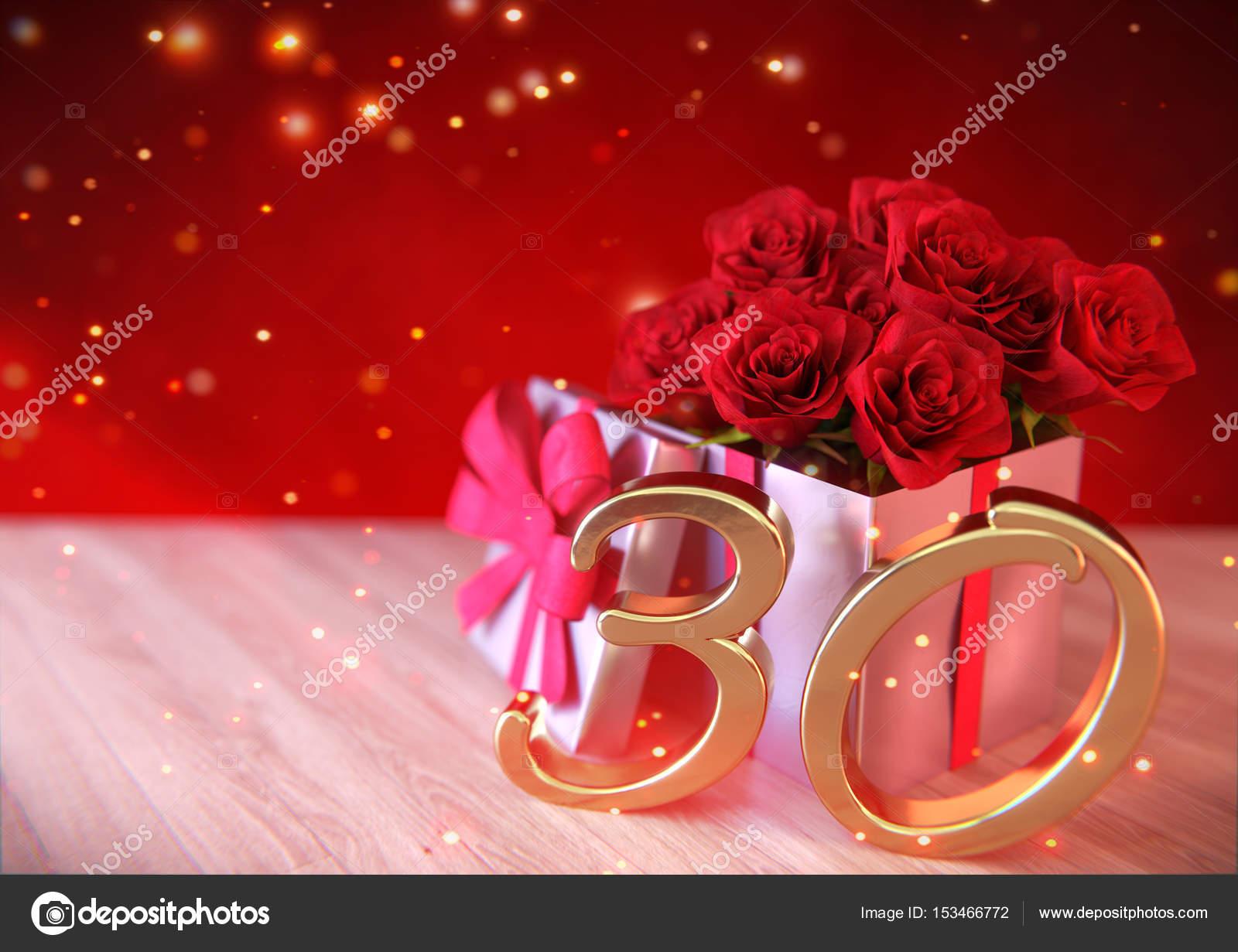 30 rosen zum geburtstag