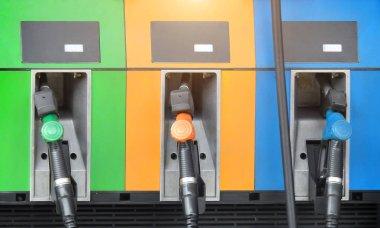Fuel dispenser at a gasoline station