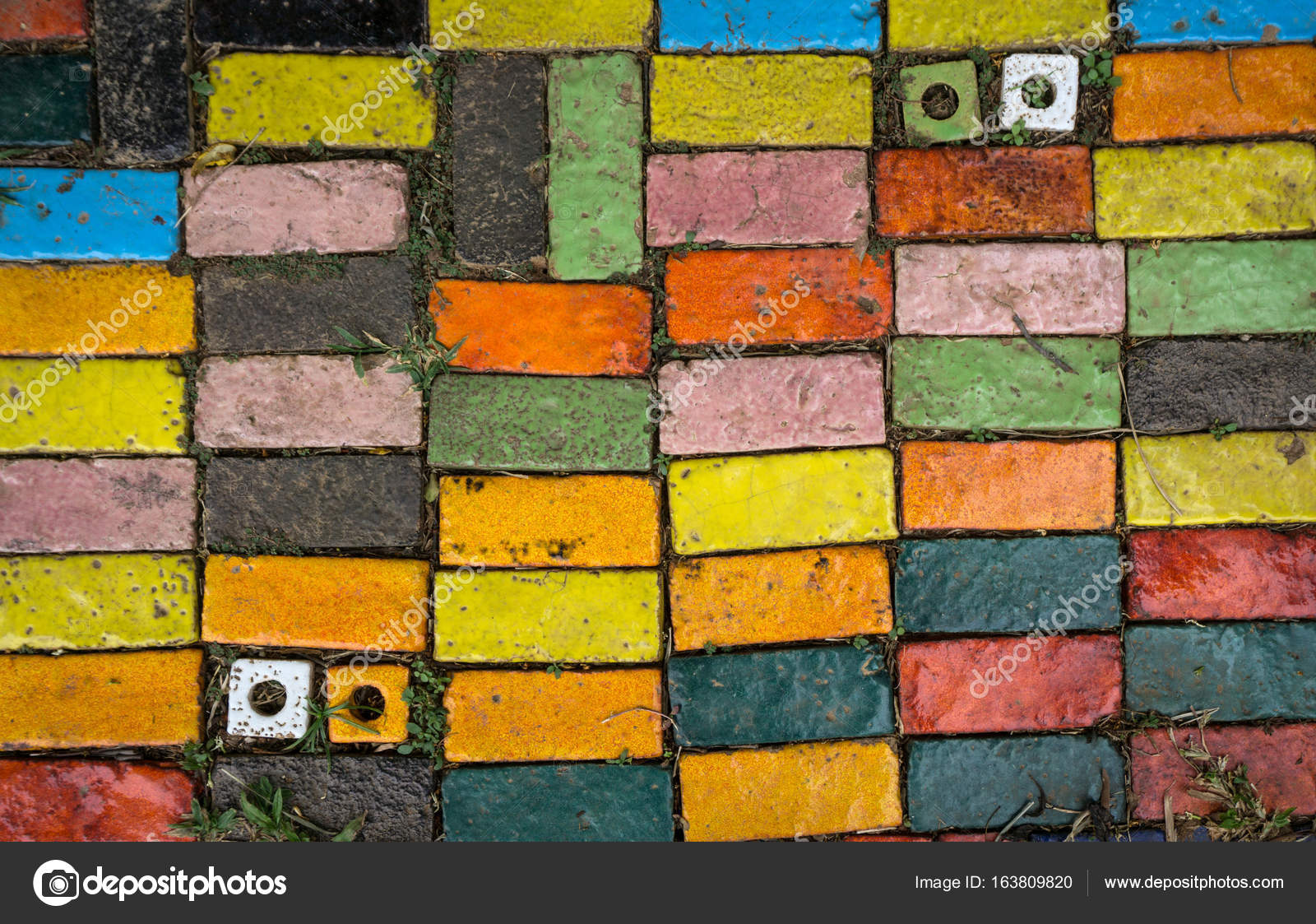 The floor is made of colorful ceramic. — Stock Photo © pkproject ...