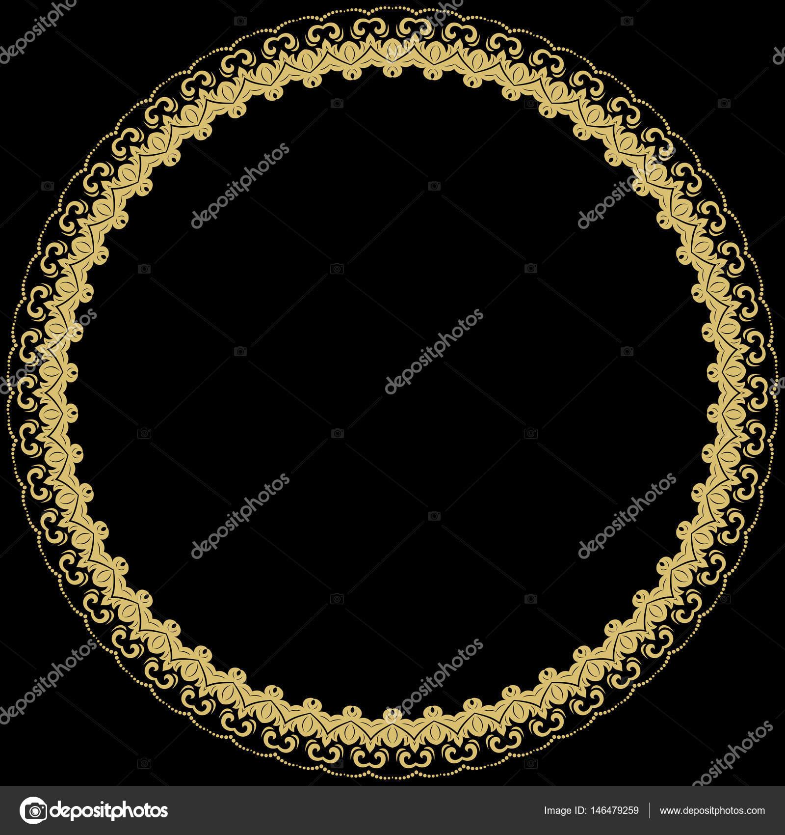 Moderne Vektor Floral Runde Rahmen — Stockvektor © turr1 #146479259