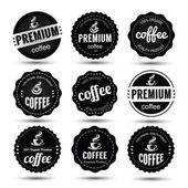 Káva label vektor