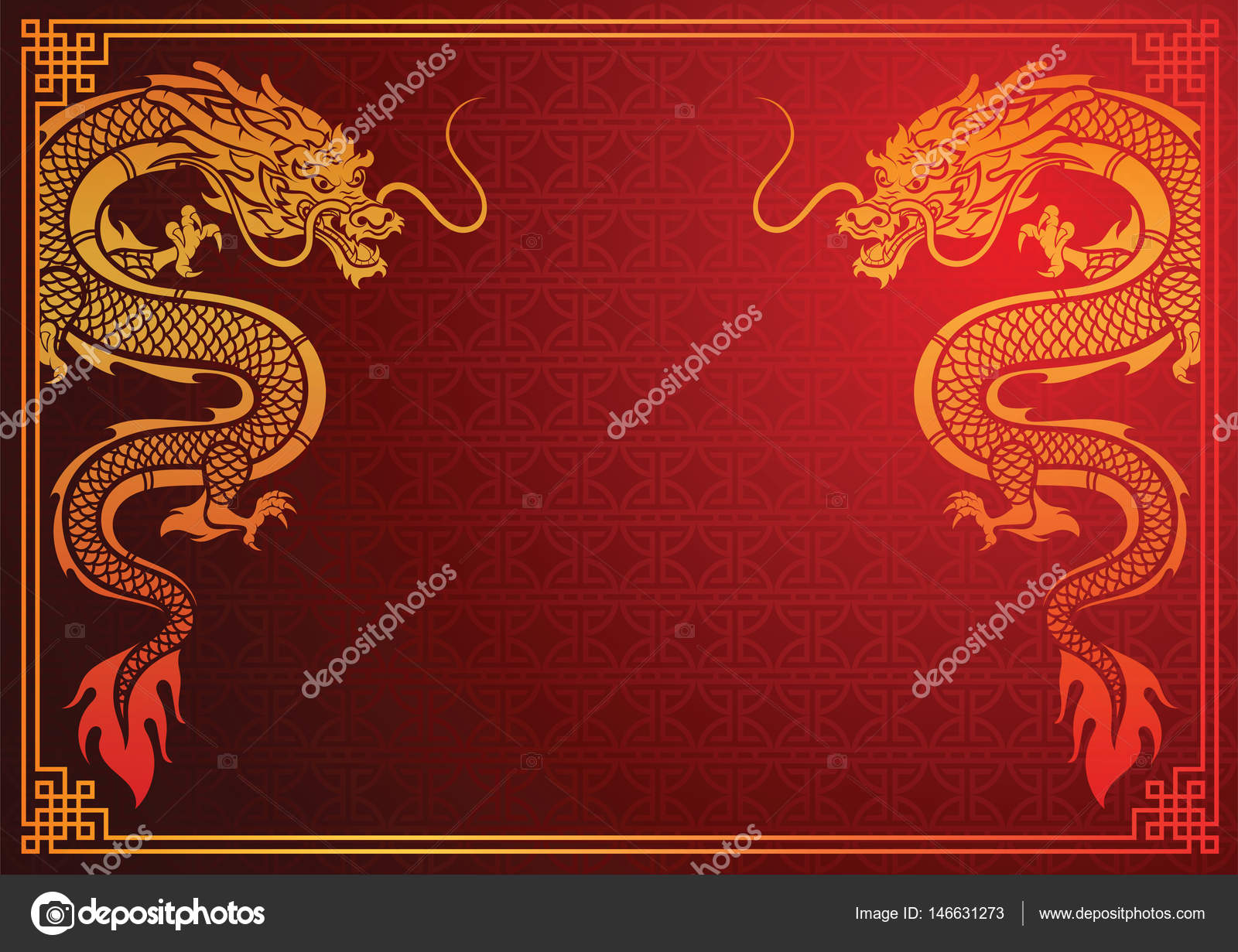 chinese dragon template stock vector 10comeback 146631273
