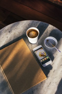 journal Phone And Coffee