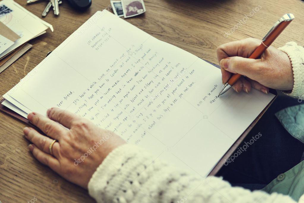 schrijven brief persoon schrijven brief — Stockfoto © Rawpixel #128536698