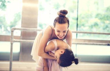 Two ballerinas Training Performance