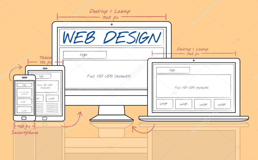 Design Template with Web Design