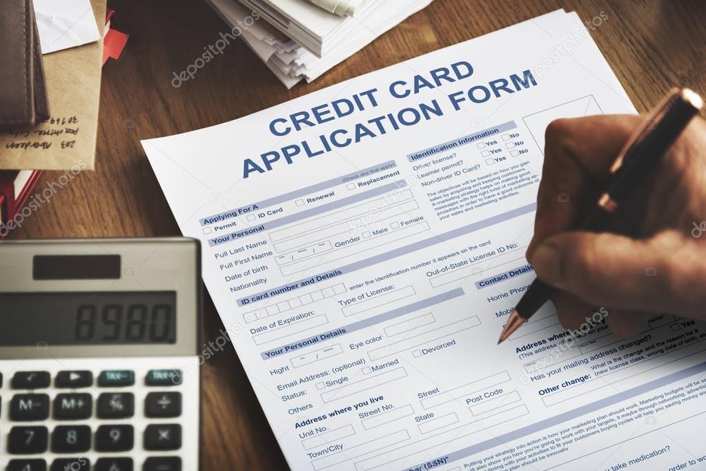 Person Filling Application Form U2014 Stock Photo
