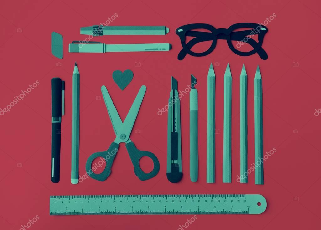 Colorful Pencils Scissor